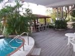 pool deck with chiki bar