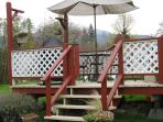 Enjoy a glass of wine on the private back deck