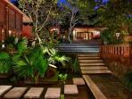 Villa Bunga Wangi Study & Frangipani Suite viewed from Living Bale