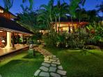 Villa Bunga Wangi Graden & Lotus Suite at Dusk