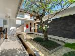 Villa Kavya Entrance & Pond