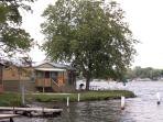 The cottage is right on the lake!