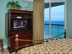 King Size Master Bed Opens to Balcony, Large Private Bath