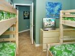 Kids bunk room sleeps 5!