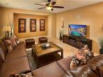 Spacious Living Room with HD TV