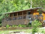 Bass Bungalow sits on the shore line. Offers lots of amenities; WIFI, Hot tub, boat slip & Canoe.