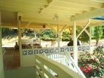 Covered Patio off of entrance balcony