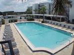 Large, heated pool.