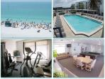 The beach, pool, exercise room and game room.
