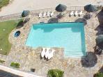 Oceanfront beach front pool & hot tub below Seabreeze 1 #404 4300 Gulf Blvd SPI,TX 78597