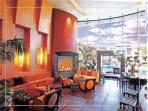 elegant fireplace in club house