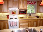 Idle Hours,  Gourmet Kitchen, Gas Range, Red  Accents
