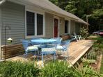 Front Deck, front and back yards have space for games