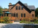 Pool Pond Shingle Style Home Large decks