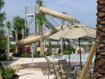 Enjoy the Flumes at the Club House Pool