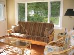 Comfortable double futon with memory foam mattress