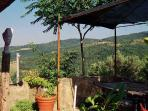 Terrace Il Peperino, Countryhouse Villa La Rogaia Umbria, Lake Trasimeno