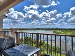 Beautiful view of Lake Cay from our balcony