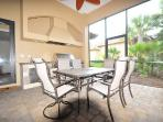 Summer kitchen with dining area