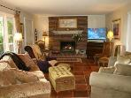 Living Room: Gas Log Fireplace, 52' HDTV & Surround Sound, Sofas including Queen Sleeper & VIEWS!