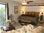 King Bedroom w/ View Balcony - Ultra Plush King Mattress & Sumptuous Linens, 3 Closets, Love Seat