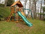 For kids there is a fabulous outdoor playground with fort, slide, climbing wall and swings.