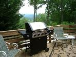 Gas Grill off the Kitchen Back Deck. Views to the North. Patio Table & Chairs.