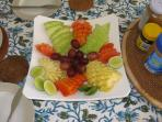 Your tropical fruit breakfast - almost too good to eat!