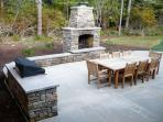 Rear patio, fireplace & BBQ grill