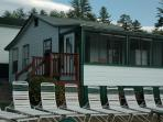 Cottage #5 is right on our private beach. 2 bedrooms each with queen beds.