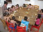 Children´s meal time / outside picnic - use the barbecue or kitchen