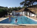Children never tire of a big pool - shallow with steps for toddlers, deep for divers