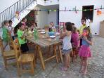 Central courtyard, delightful venue for childrens´ entertainment and parties.