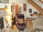 Living Room; Awesome Massage Chair; Stairs lead to 3rd Level Master King Bedroom Suite