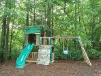 Delightful outdoor playground keeps kids entertained for hours!