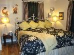 Master Suite with Ultra Plush King Bed; 2 Closets, HDTV/DVD, Chic Wall Art, Private Bath w/Skylight