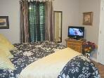 Master Suite with Plush King Mattress & Sumptuous Bedding, HDTV with Built-In DVD, Private Bath