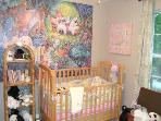 Kids Bedroom: Alice In Wonderland Mural, Crib, Twin with Twin Trundle, Toys, Stuffed Animals, Games