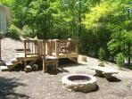 Firepit for evening marshmallow roasts; sunning deck