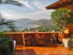 The Mexican Riviera and the stunning Bay of Zihuatanejo from our North Terrace.