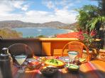 Lunch on our terrace, overlooking the gorgeous Zihuatanejo Bay.