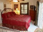 King Suite with Private Deck w/Water View, Plush King Mattress, Private Bath, 2 Closets, Love Seat