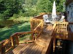 Multiple Decks overlooking Pond