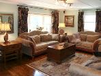 Large Living Room with 3 Sofas (1 is Queen Sleeper) & Massage Chair, 50' HDTV & Surround Sound