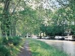 The Canal du Midi passes close by, offering boat cruises and biking trails.