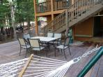Dine or relax on the huge back deck (added in 2013)