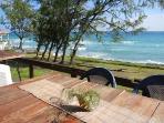 view from the beach bar/restaurant, 3 minutes walk away