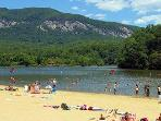 Walk to Lake Lure Beach from Sundance