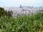 Bernal Heights is definitely THE place for great city views. You can walk there from the apartment.