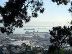 View of San Francisco Bay, from the top of Bernal Heights